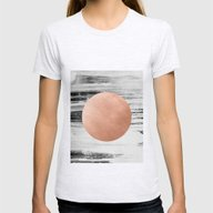 Rose Gold #1 Womens Fitted Tee Ash Grey SMALL