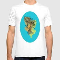 peacock tree Mens Fitted Tee SMALL White