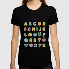 alphabet Womens Fitted Tee Black SMALL