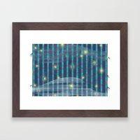 Night Bamboo Framed Art Print
