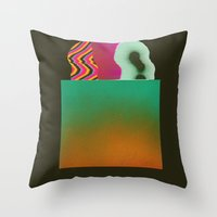Bagged Groceries Throw Pillow