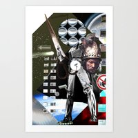 The Man with the golden Helmet - Collage Art Print