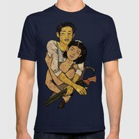 Glenn & Maggie Mens Fitted Tee Navy SMALL