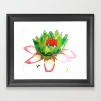 Alice's Water Lily Framed Art Print