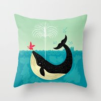 The Bird And The Whale Throw Pillow