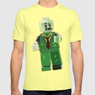 Brains Mens Fitted Tee Lemon SMALL