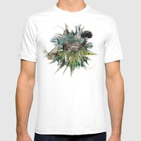 Greenspace Mens Fitted Tee White SMALL