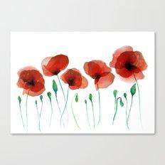 Poppies 2015 Canvas Print