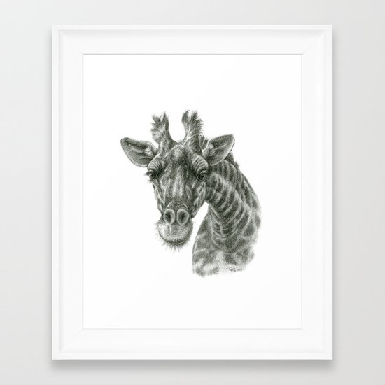 The giraffe G2012-049 Framed Art Print