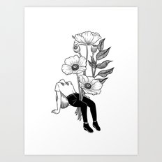 Let me bloom Art Print