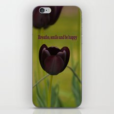 Black Tulip Field iPhone & iPod Skin