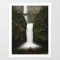 Lower Multnomah Falls Art Print