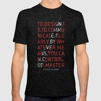 To Design by Milton Glaser Mens Fitted Tee Tri-Black SMALL