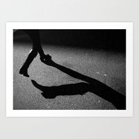 Walking Shadow Art Print