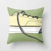 Sneaker in profile Throw Pillow