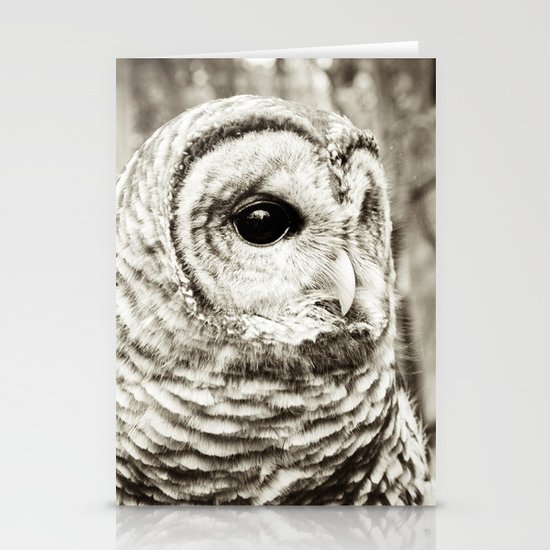 Wise Old Owl Stationery Card