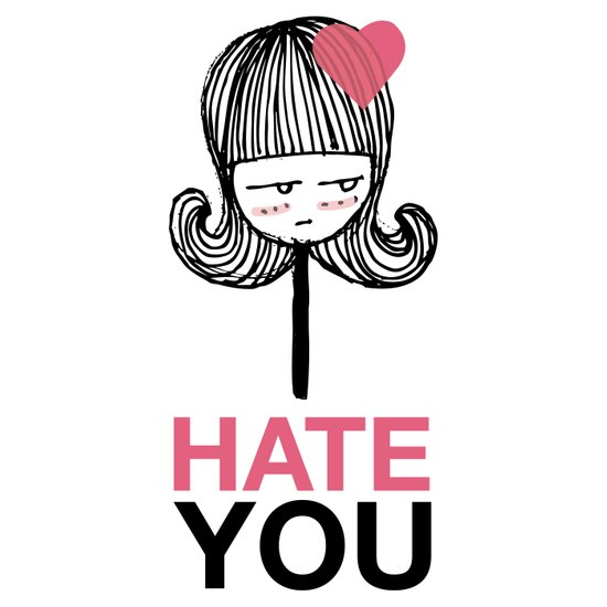 I Hate You / Lollipop Art Print