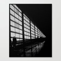 Waiting at the Airport Canvas Print