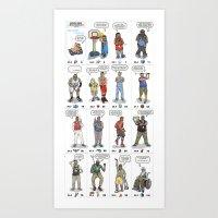 NBA Ageisms Art Print