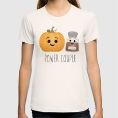 Pumpkin + Spice = Power Couple Womens Fitted Tee Natural SMALL