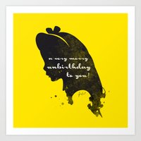 Unbirthday – Alice Sil… Art Print