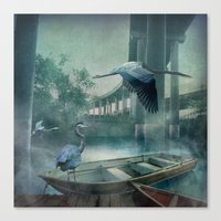 Morning in the Urban Marsh Canvas Print