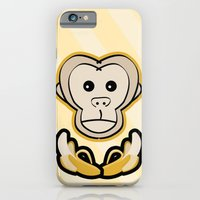 monkey iPhone & iPod Cases featuring Monkey by Nir P