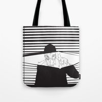 Man In The Mask -Watchin… Tote Bag