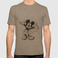 Mickey Mouse Mens Fitted Tee Tri-Coffee SMALL