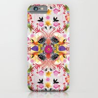 iPhone & iPod Case featuring Kaleidoscope Flamingos by Million Dollar Design