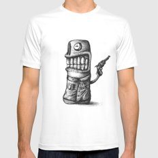 SHERIFF SMALL White Mens Fitted Tee
