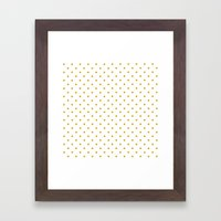 Golden Dots Framed Art Print
