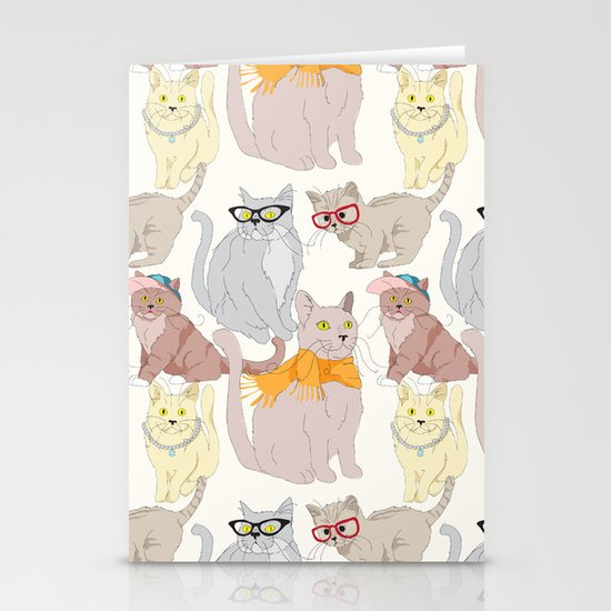 Accessory Cats Stationery Card