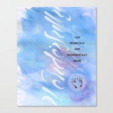 Wonderfully Made Blue Canvas Print