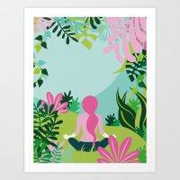 Yoga Garden Art Print