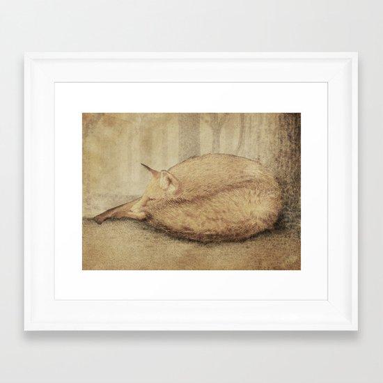 A Quiet Place (sepia option) Framed Art Print