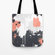 Abstract Paint Pattern 0… Tote Bag