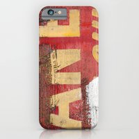 Yellow Letters On Red iPhone 6 Slim Case