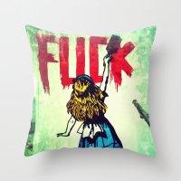 Writing Fuck Throw Pillow