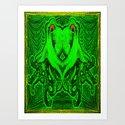 OctoSpeculum #3 - Psychedelic Octopus Fractal Optical Illusion Vibrant Design Art Print
