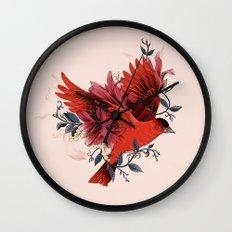 Blooming Bird  Wall Clock