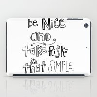 Nice + Risks = Happiness… iPad Case