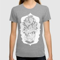 FORTUNA Womens Fitted Tee Tri-Grey SMALL