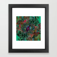 Butterfly Dreams Fractal art Framed Art Print