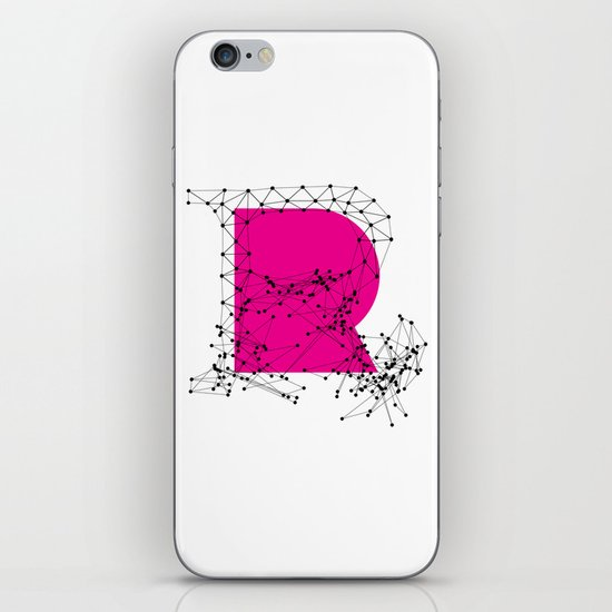 R (abstract geometrical type) iPhone & iPod Skin