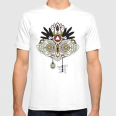Death Mask 2 Mens Fitted Tee White SMALL
