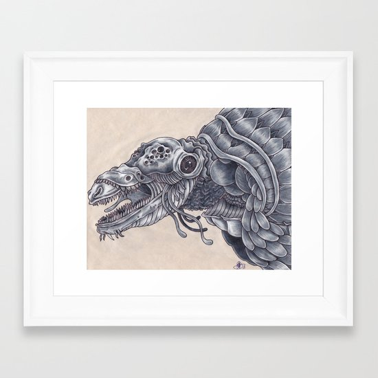 Deep Sea Creature Framed Art Print