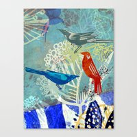Birds in the backyard. Canvas Print