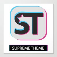 Supreme WordPress Theme Canvas Print