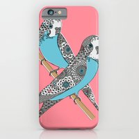 iPhone & iPod Case featuring Budgies by Rachel Russell